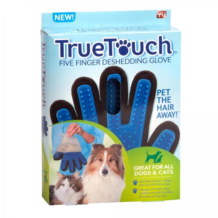 ถุงมือแปรงขนสัตว์เลี้ยง เก็บขนลอกขนทิ้งได้