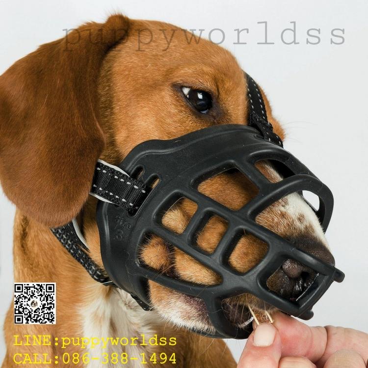 #หน้ากากครอบปากซิลิโคน ป้องกันอุบัติเหตุการกัดโดยคาดไม่ถึง #Silicon Dog Muzzle