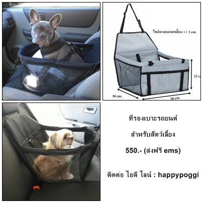ที่รองเบาะรถยนต์สำหรับสุนัขและแมว (ส่งฟรี)